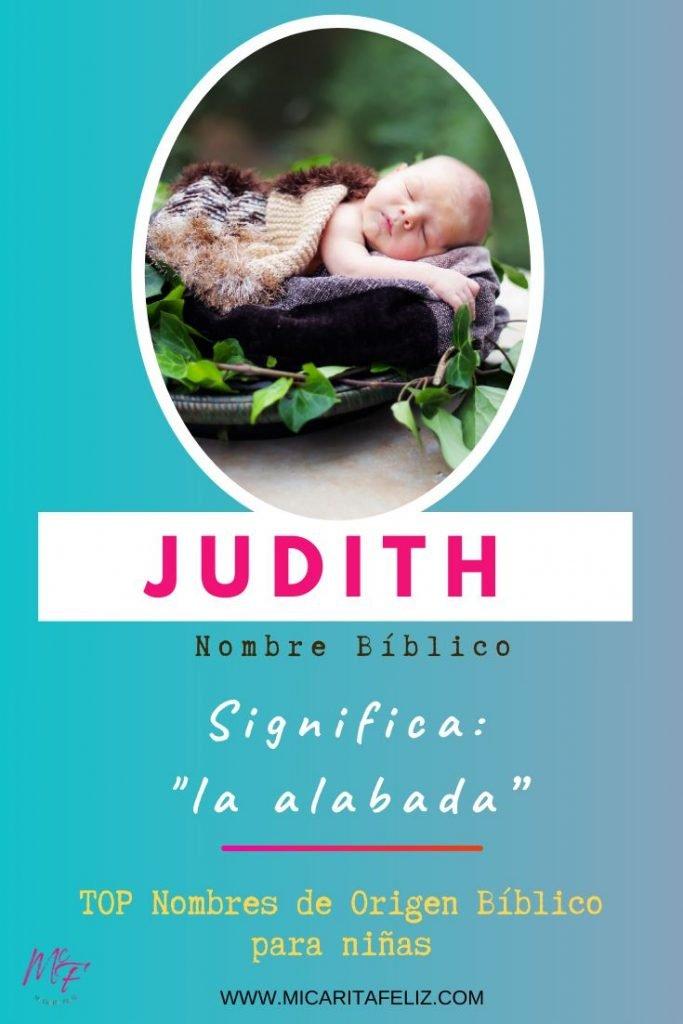 significado de Judith - Nombres Cristianos para ninas