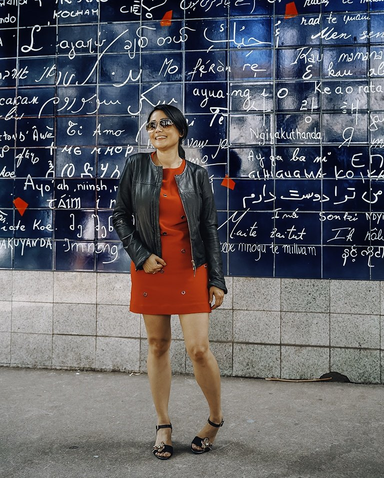 """Wall of the """"i love you"""" in Paris"""