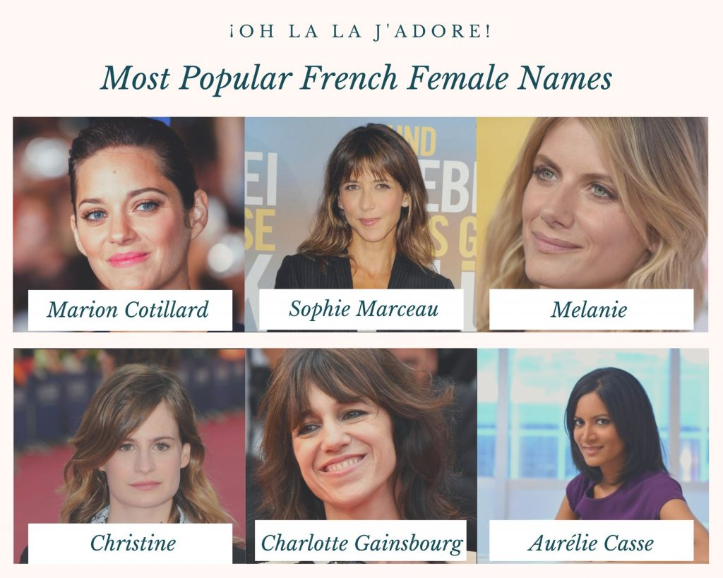 Most populare french female names